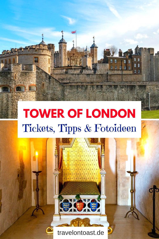 London Reise Tipps: Am Tower of London gibt es oft lange Warteschlangen. Erfahre, wie du Eintrittskarten kaufen kannst ohne Anstehen, plus weitere Tipps und Foto Ideen. #Urlaub #Reisen
