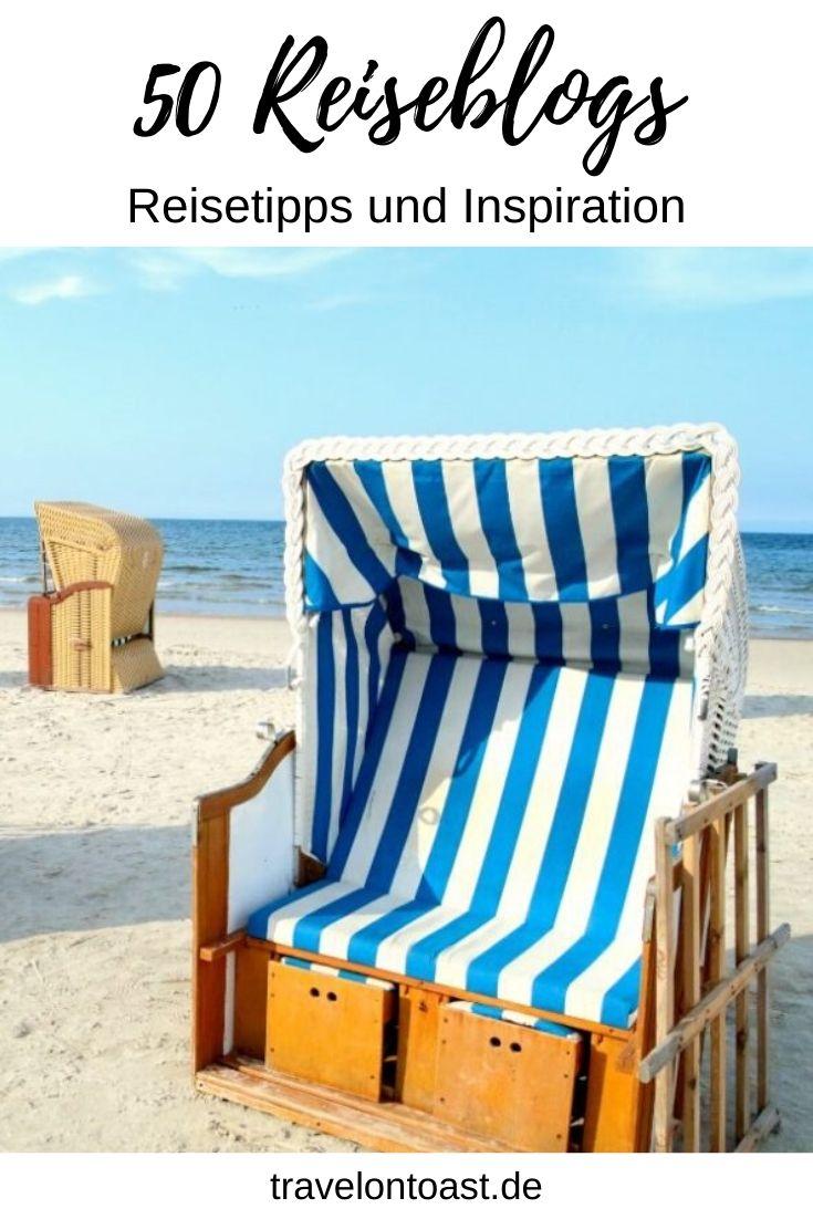 Suchst du Reisetipps und Inspiration für Sommerurlaub, Kurzurlaub oder Wochenendreisen? In dieser Liste findest du 50 Reiseblogs, die deutschen Reiseblogger geben dir tolle Tipps und Ideen für Deutschland, Europa und Fernreisen.