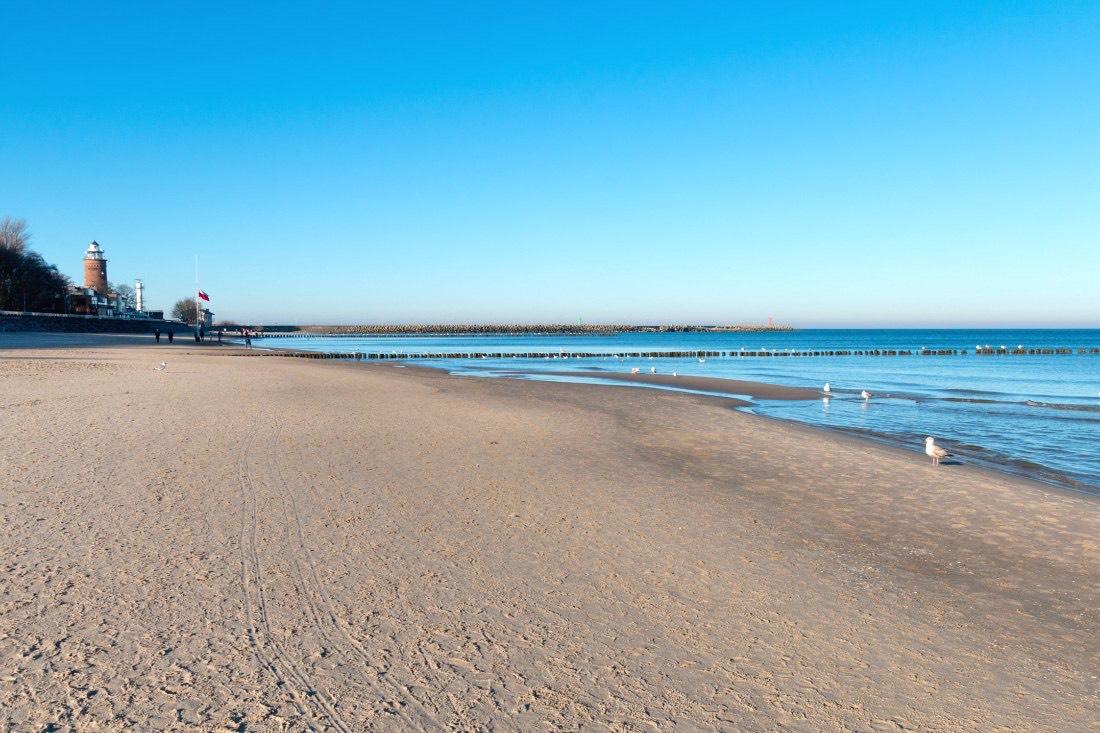 Strand in Kolberg Polen