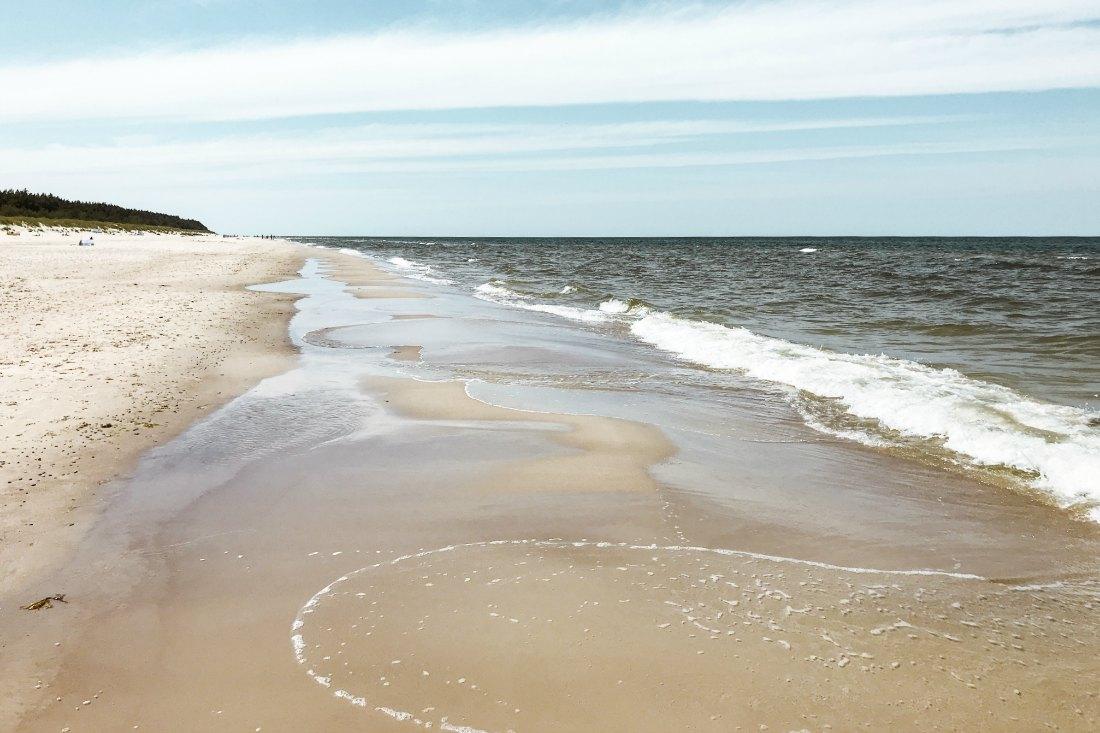 Einer der schönsten Strände der polnischen Ostsee ist Grzybowo.