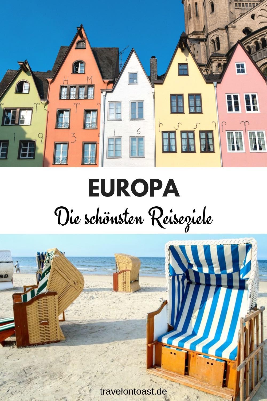 """Tipps für tolle Reiseziele: ob für Städtereisen Europa oder Strandurlaub, Kurztrip oder eine längere Reise. Im """"Reiseblog Europa"""" findest du eine Artikelsammlung – etwa zu den schönsten Städten Europas, günstigen Reisezielen, Insidertipps oder Packlisten für Sommerurlaub und Städtetrip. #Europa #Reisen #Urlaub"""