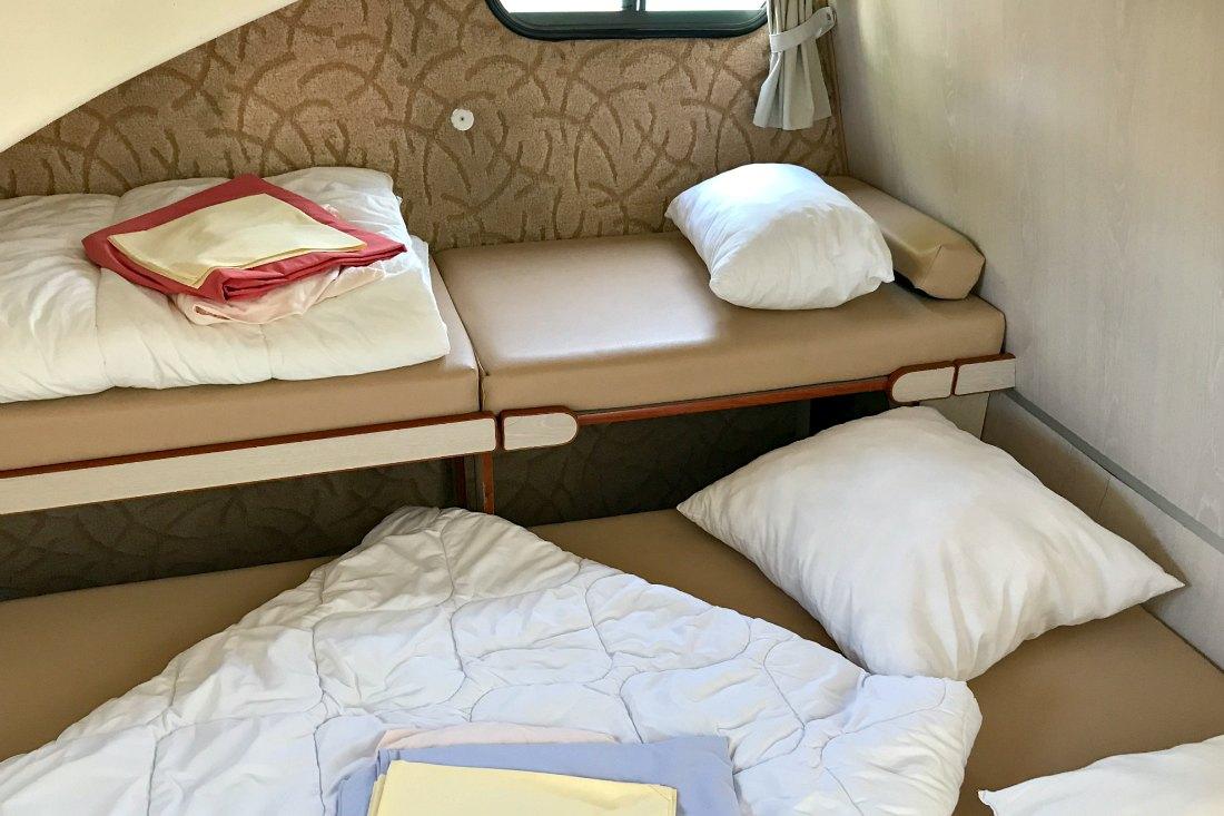 Schlafzimmer auf dem Hausboot