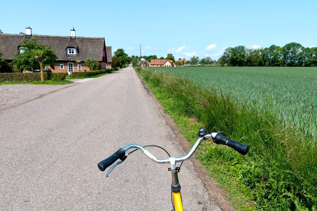 Radfahren auf der Insel Ven