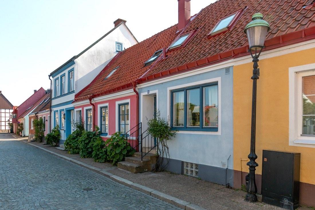 Bunte Häuser in Ystad