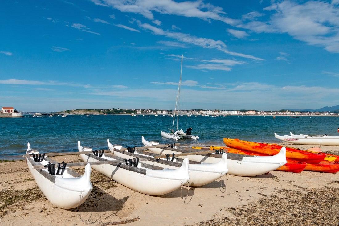 Auslegerkanu fahren Atlantikküste Frankreich