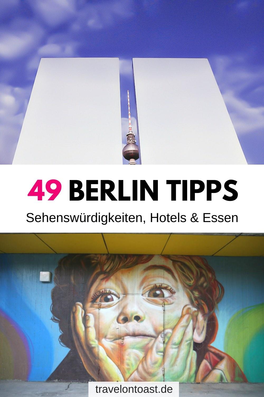 Hol dir die Berlin Tipps einer Einheimischen zu den schönsten Hotels, Sehenswürdigkeiten, Streetart Spots, Flohmarkt, Ausflügen, Restaurants und Cafes (Berlin Tipps Essen) und Rooftop Bars – ob für Sommer, Winter oder bei Regen. Alles für euren Kurzurlaub am Wochenende oder einen längeren Städtetrip Deutschland. Abseits der Touristenmassen rund um Brandenburger Tor, Fernsehturm und Kudamm! #Berlin #Urlaub #Reisen #Kurzurlaub