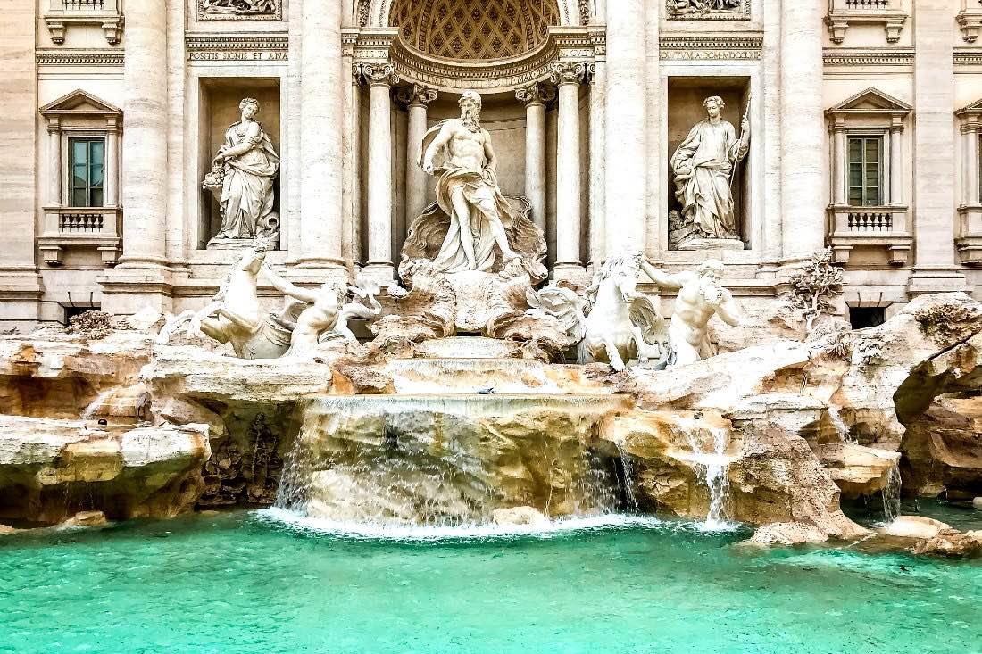 Städtetrip Europa - Trevi Brunnen Rom