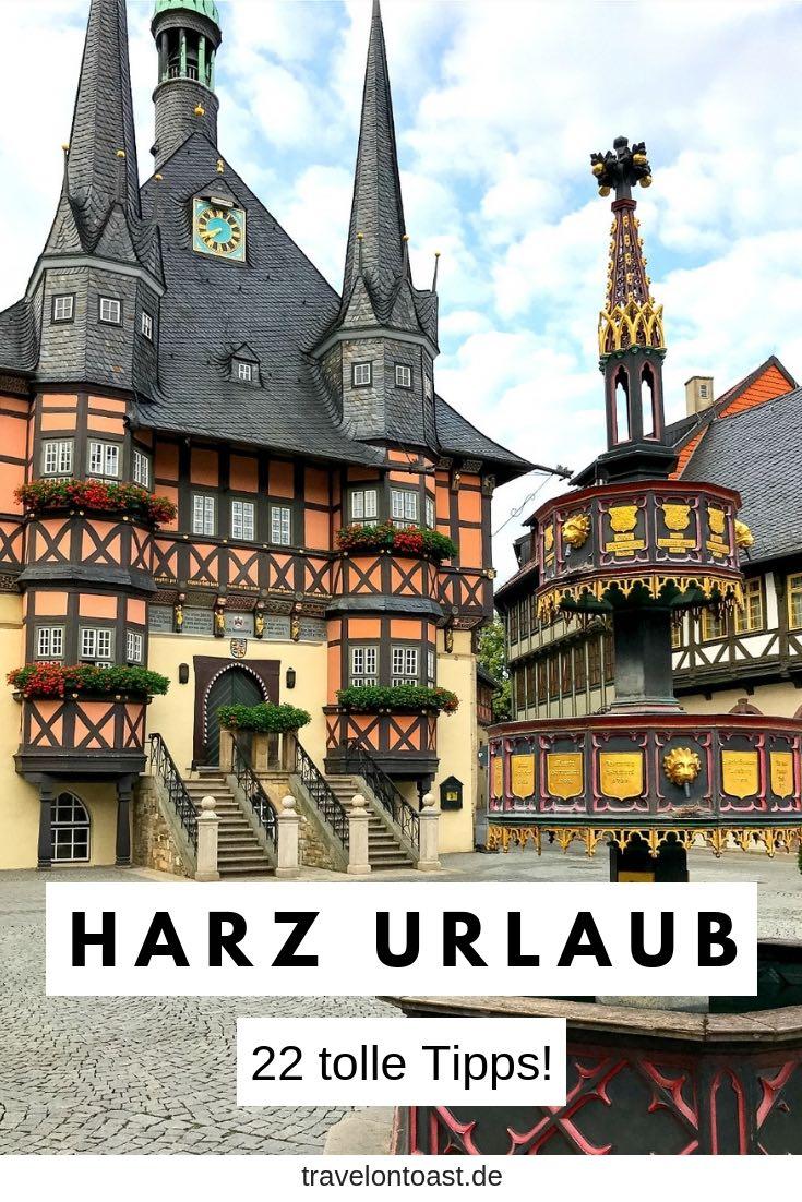 (Werbung) Hol dir die schönsten Tipps für deinen Harz Urlaub: ob Hängebrücke Titan RT, Tropfsteinhöhle, Fachwerkhäuser und Cafes in Quedlinburg oder Goslar, Wernigerode Schloss oder (vegetarisch) essen gehen. #Harz #followyourharz