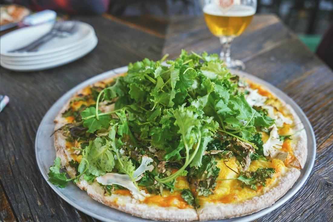 Vegetarische und vegane Pizza Barcelona Spanien