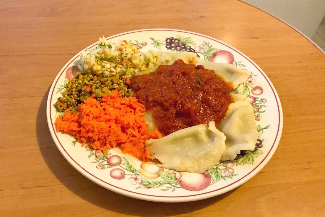 Vegan in Polen Pierogi