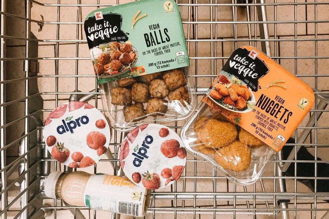 Vegan in Polen Supermarkt