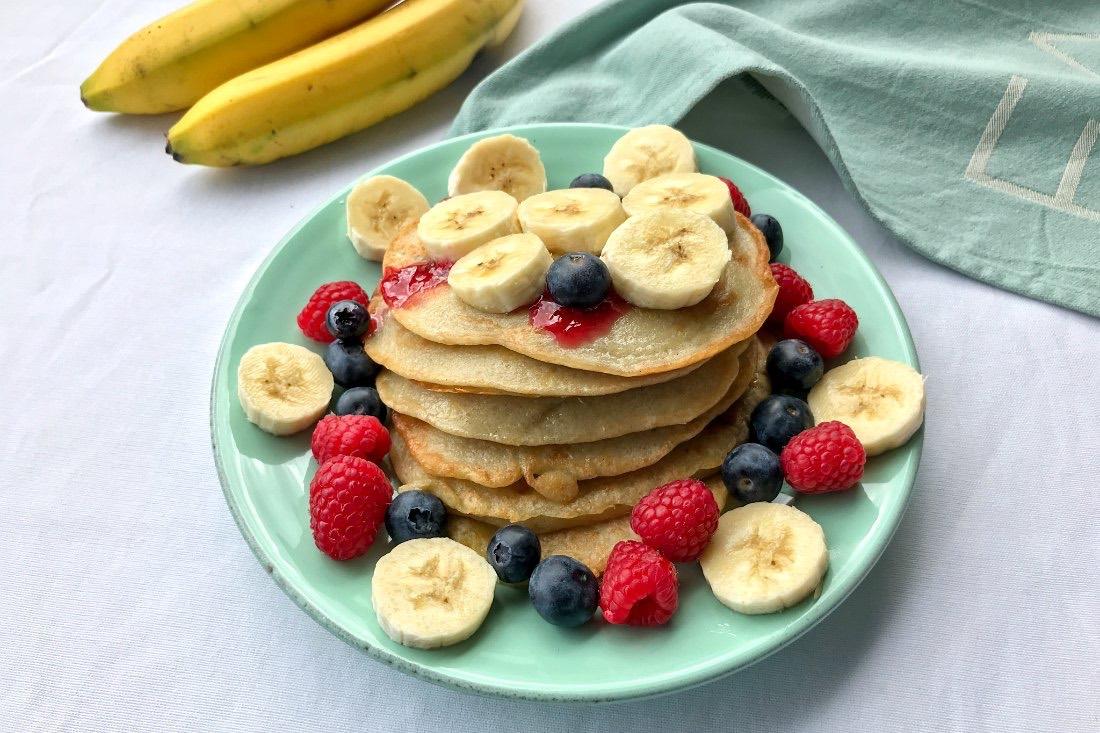 Bananen Pancakes Rezept vegan zuckerfrei