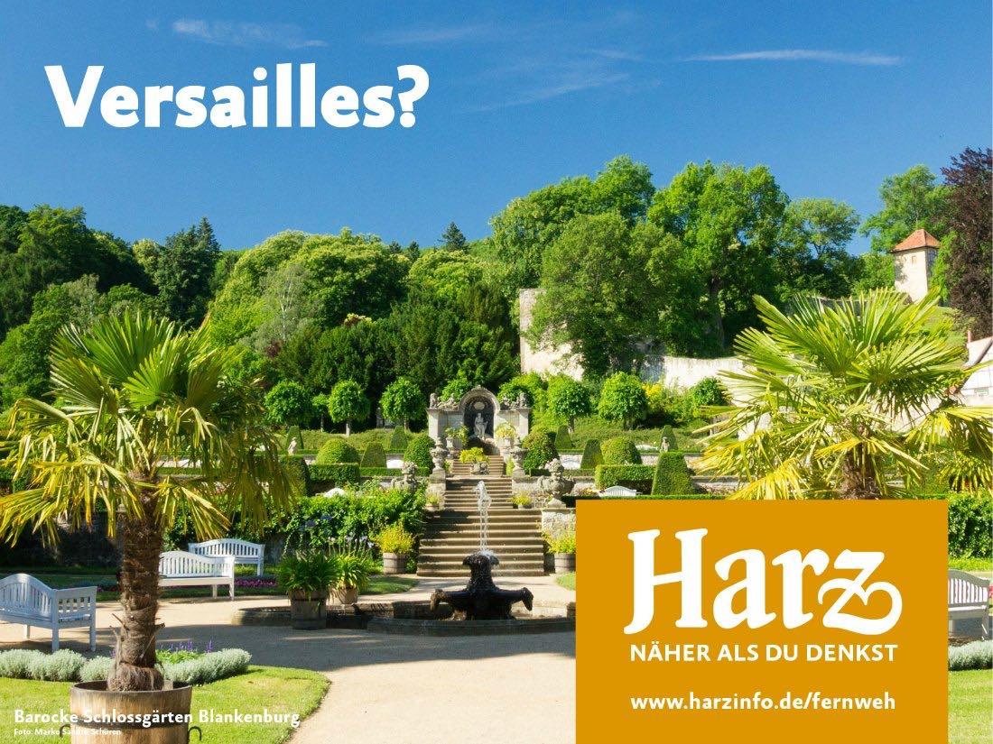 Barocke Schlossgärten Blankenburg - Urlaub im Harz