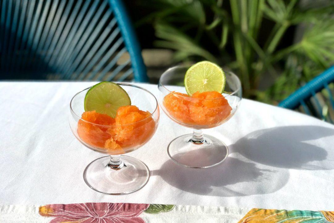 Papaya Sorbet Rezept ohne Eismaschine vegan