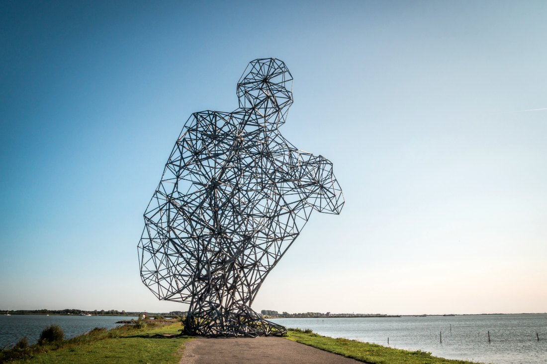 Landschaftskunstwerk Exposure in Flevoland
