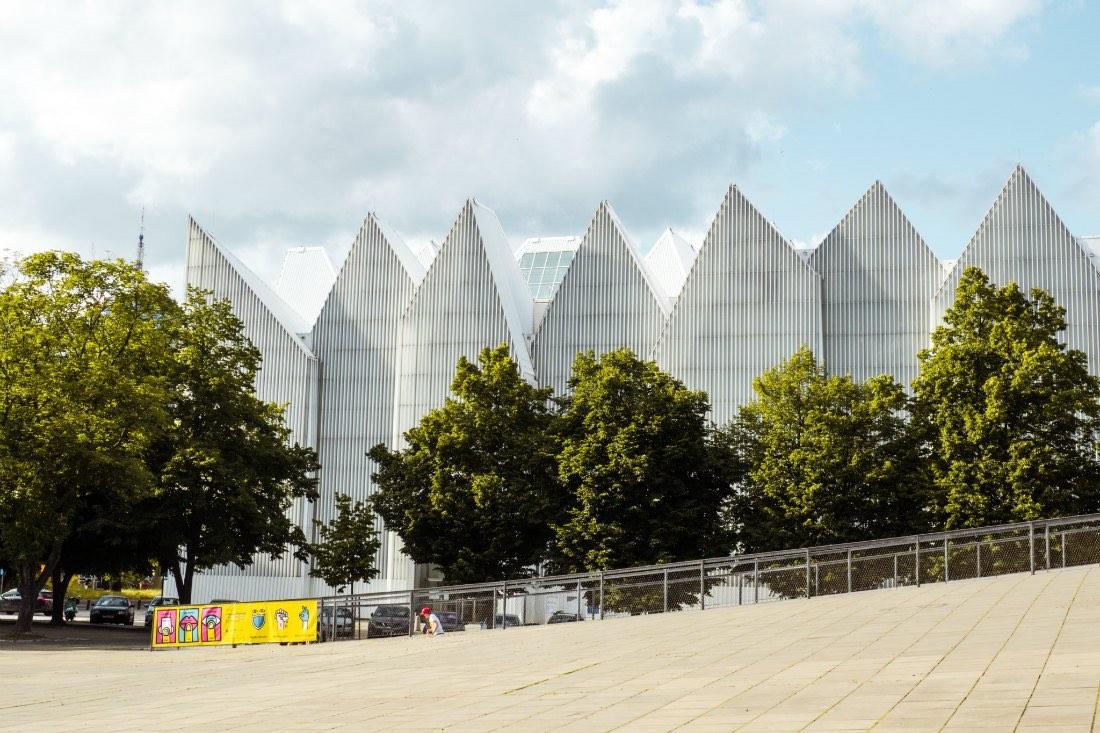 Moderne Architektur der Philharmonie Stettin