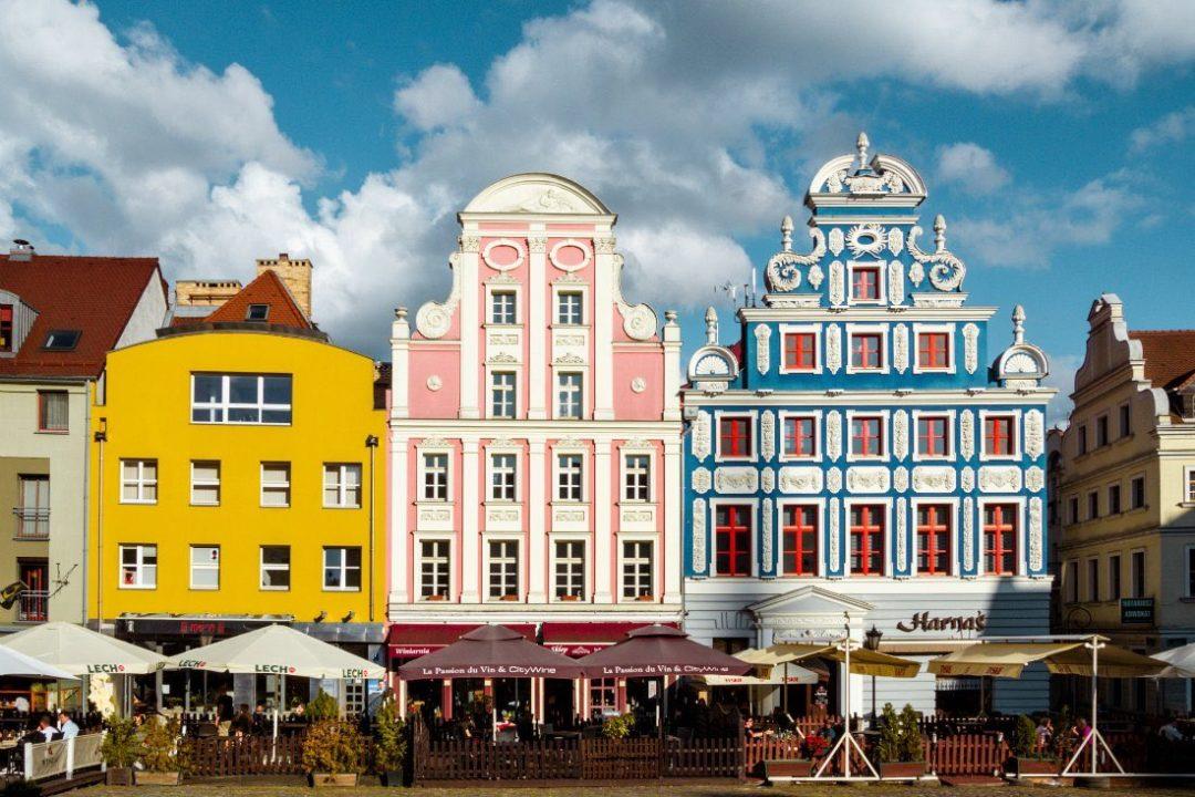 Altstadt von Stettin mit bunten Häusern