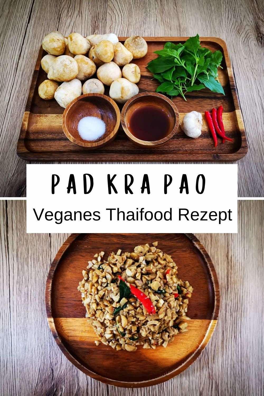 Veganes Pad Krapao Rezept mit Pilzen oder Tofu ist einfach und schnell zuzubereiten. Origianlrezept aus Thailand für authentischen Geschmack - nur vegan abgewandelt. Genial zu Mittagessen oder Abendessen. / Pad Kra Pao / Pad Kra Pow / Thailand Rezepte