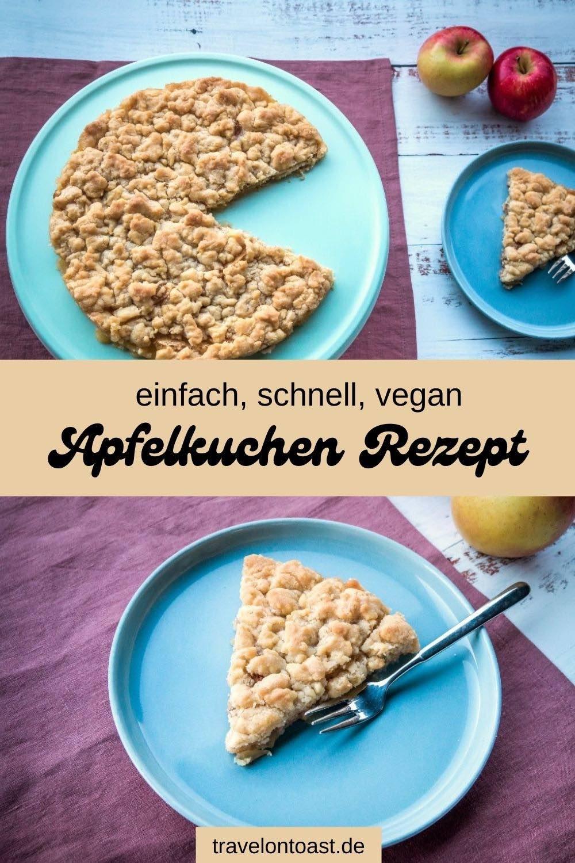 Dieses Rezept für unglaublich leckeren, saftigen Apfelkuchen mit Streuseln habe ich euch aus Schweden mitgebracht. Das Apfelkuchen Rezept ist einfach, schnell und vegan. Perfekt für den Besuch, Geburtstagsfeiern, Weihnachten oder Ostern. / vegane Rezepte / veganer Kuchen / vegan backen / vegane Rezepte schnell / Kuchen Rezepte einfach / Streuselkuchen / Streuselkuchen ohne Hefe / Apple Crumble Rezepte / Apple Crumble vegan / Apfel Rezepte