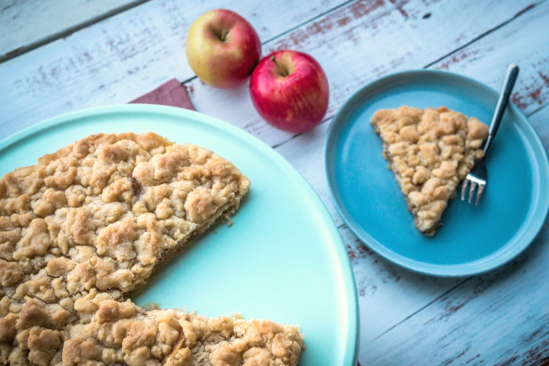 Apfelkuchen Rezept vegan einfach schnell