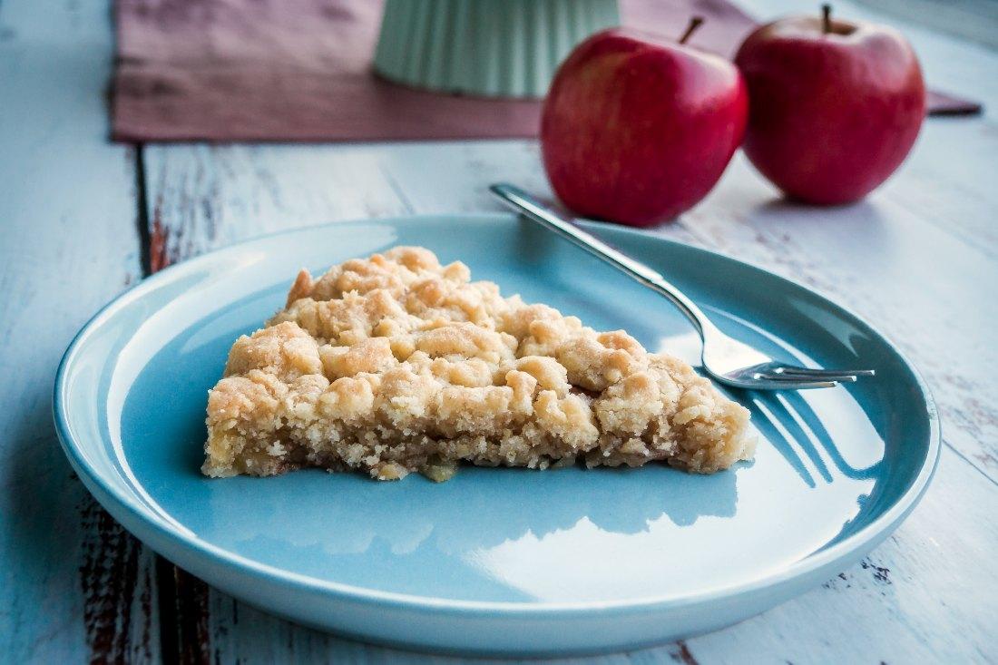 veganer Apfelkuchen mit Streuseln Rezept