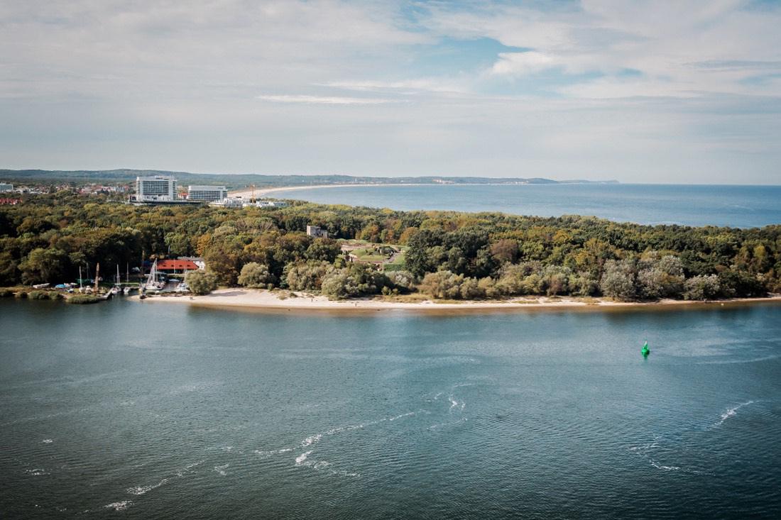 Ausblick vom höchsten Leuchtturm an der Ostsee