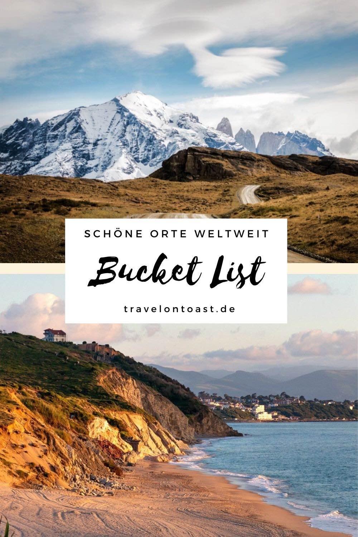 Was muss man unbedingt erlebt haben? Im Reiseblog findest du 40 Bucket List Ideen zum Wegträumen und als Inspiration für deine zukünftigen Reisen. Von tollen Ausflugszielen und Urlaubsorten in Deutschland über Reiseziele in Europa bis hin zu Sehenswürdigkeiten und Geheimtipps für Fernreisen. Schöne Orte weltweit!