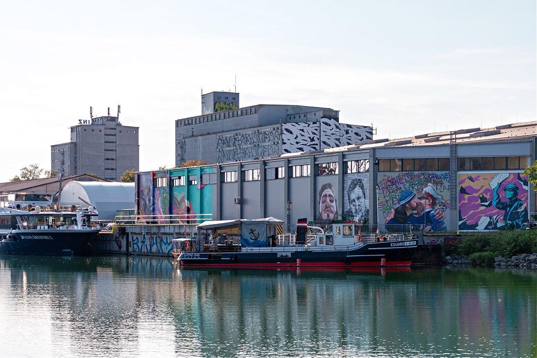 Österreich Sehenswürdigkeiten Mural Harbor Gallery Linz