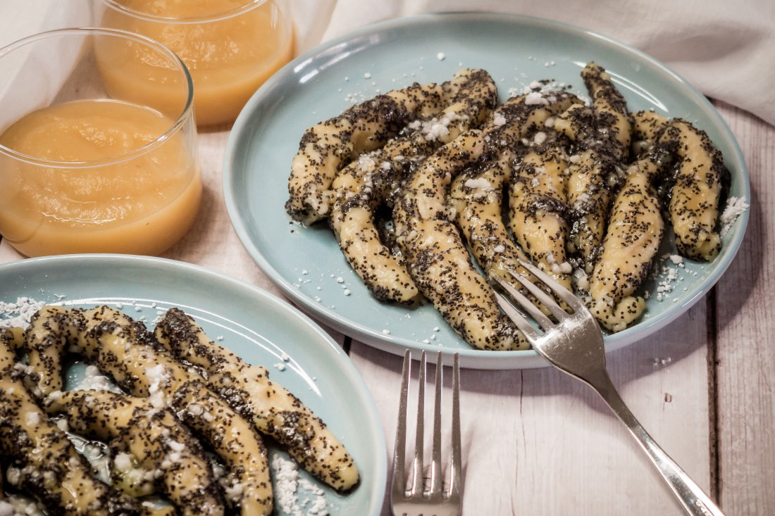 Vegane Mohnnudeln süßes Rezept aus Österreich