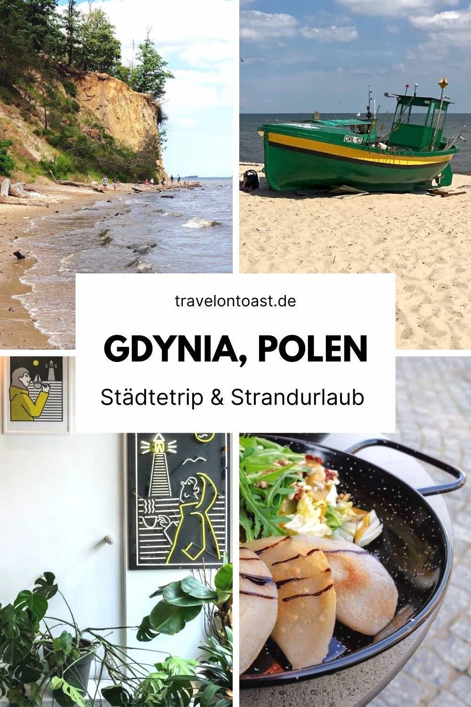 (Werbung) Polnische Ostsee: Die Hafenstadt Gdynia liegt 20 Kilometer von Danzig entfernt. Hier kannst du Städtetrip und Strandurlaub in einem erleben. Im Reiseblog findest du Sehenswürdigkeiten und Highlights wie Kliff, Seebrücke, Strände, Museumsschiff und Bauhausarchitektur. Auch für den Urlaub mit Hund ist die Stadt gut geeignet, wir übernachteten in einem hundefreundlichen Hotel und besuchten zwei Hundestrände.