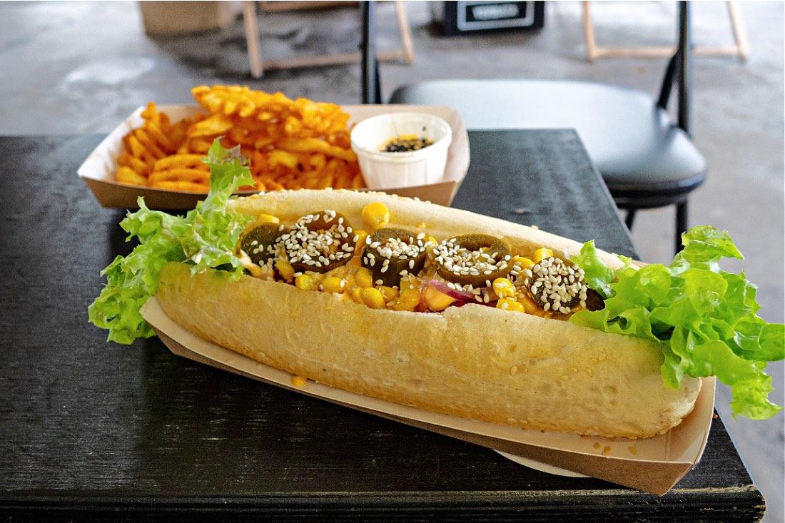 Hot Doggie veganes Essen