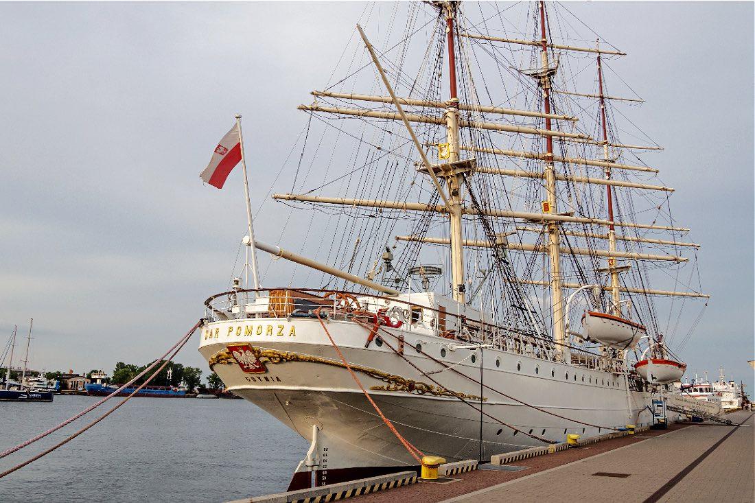 MuseumsschiffDar Pomorza in Gdynia