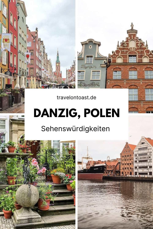 (Werbung) Danzig Reisetipps für deinen Polen Urlaub. Auf der Route kannst du die Sehenswürdigkeiten der Rechtstadt auf eigene Faust zu Fuß entdecken.