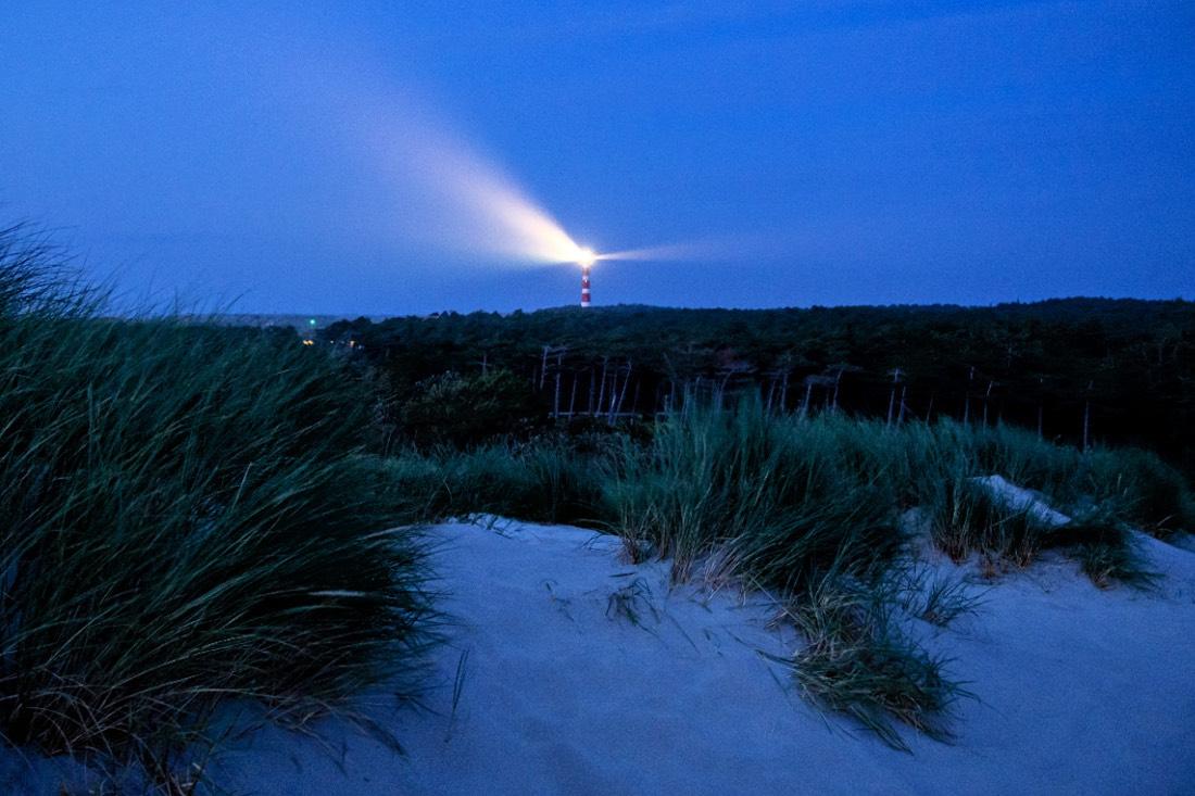 Leuchtturm Ameland nachts