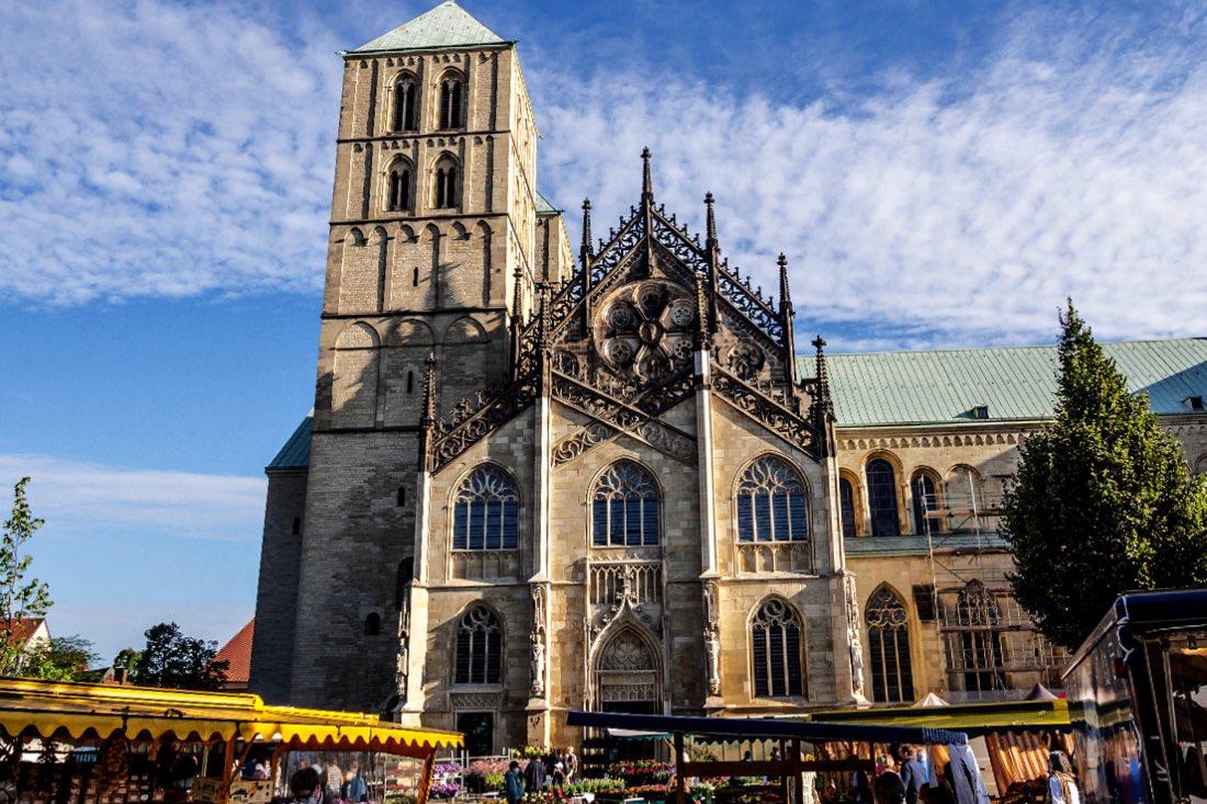Wochenmarkt Münster auf dem Domplatz